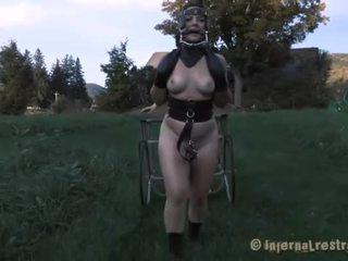 een seks, groot vernedering klem, voorlegging scène