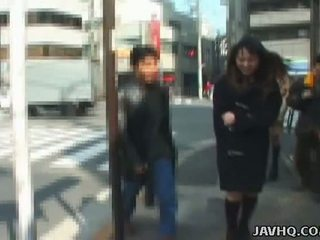 Rookie Japanese Gals Flash Onto The Streets Of Tokyo Uncensored