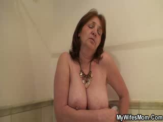 His wife's mom sucks and fucks with him