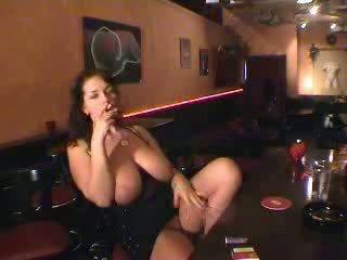 public, busty, bar