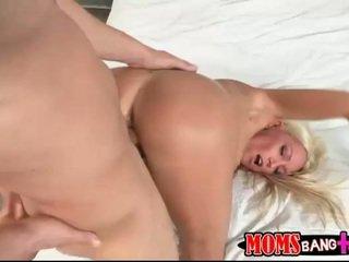Stepmom teasing a cock in the bathroom