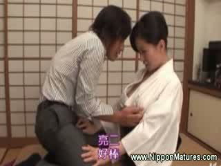 oriental geisha makes a customers shaft Rough