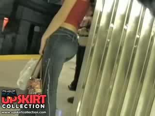 Jeg venstre min skjult arbeid i den underground og fanget dette søt jente i stram jeans