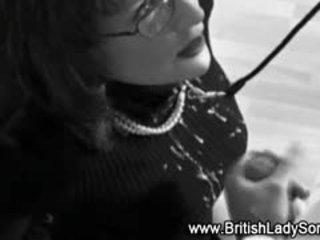 ideális brit ön, blowjob, új cumshot forró