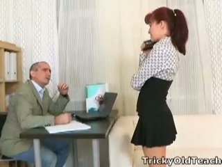 Stefany fucks tricky old teacher