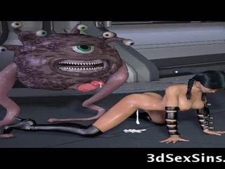 Ogres và aliens quái 3d elf cô gái!