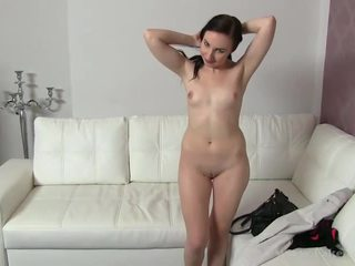 Sexy Jennie goes naked and boned on tape