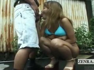 Subtitled uncensored japonez public nudity muie