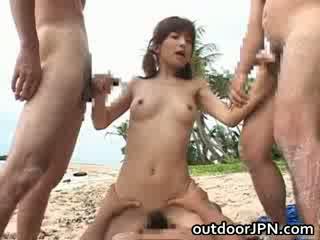 Ann Nanba oriental chick enjoys outside sex