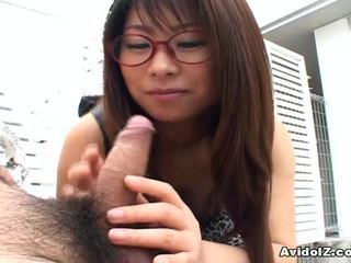 Japanese Mimi Kousaka Gives The Great Oral Uncensored