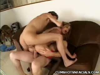 Kat Threesome Cumshot