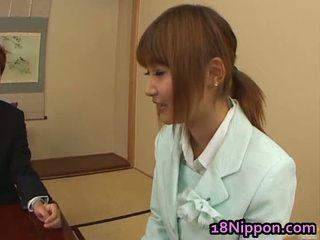 Busty Teen Asian Babe Has Dicklicking