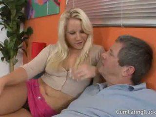 Sperma eating cuckolds: blonda kimmy olsen cuckolds ei boyfriend futand un alt dude