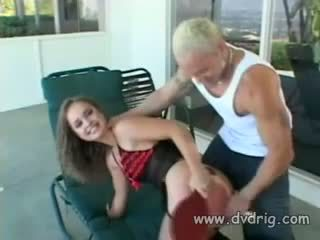 Tight And Tender Teen Louisa Rosso Gets Her Ass Loosened For Bretts Hard Thick Dick With Long Nice Dildos And His Spit