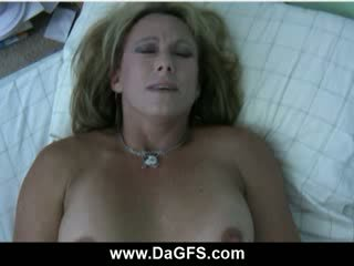 Big Titty mommy Bliss vibrator fucking in bed