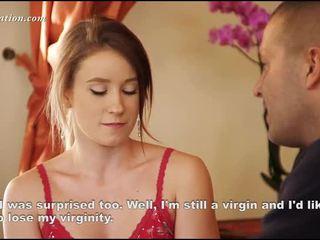 Muda virgin menanggalkan pakaian