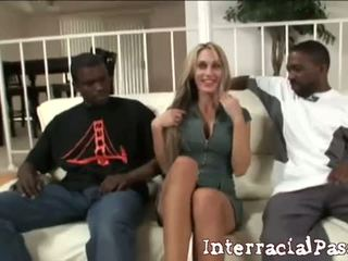 2 Big To Be True: Sarah Jessie gets banged by two black dudes