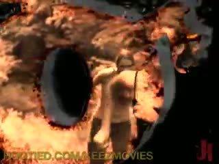 pervers tube, gratis mond gesnoerd tube, gebonden vid