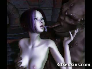 Ogres nailing 3d elf 女孩!