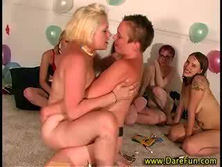Party game amateur strapon lesbians