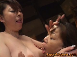 Japanese Aged Lady Has Sexy Lesbo Sex