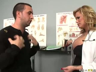 Sexy Doctor Shyla Stylez Uses Her Tits To Help Him Video