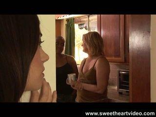 Interracial big tits lesbians eating pussy