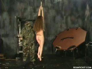 Tiny Serf Has Her Butt Beaten Red