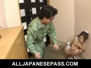 Karštas jaunas japoniškas pupytė hibiki ohtsuki gives čiulpimas
