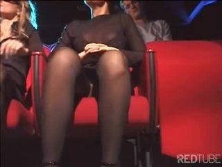 online orale seks gepost, deepthroat scène, nieuw dubbele penetratie klem