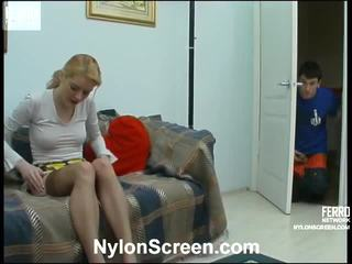 Ninette And Vitas Pantyhose Pair Inside Action