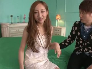 Erena Aihara Looks So Sweet In A Cream Lace Dress With