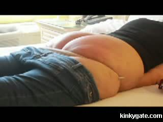my belt comes down on her fatty ass Video