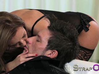 brunettes, anal, strapon