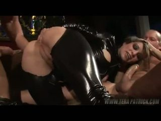 Beautiful Blond Girl Amber Rain Taking On 2 Hard Stiffs