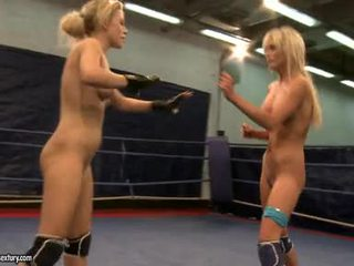 Laura crystal and michelle soaked fighting stripped