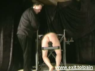 While Spanked Tanja screams in agony Video