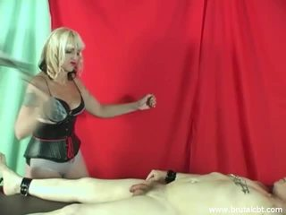 Mistress Kelly punishes cock and balls