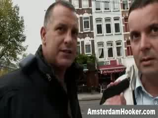 Dutch prostitute sucking off customers dong