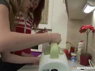 Lesbian Joy Inside The Kitchen