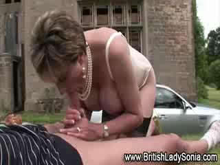 Lady Sonia gets nailed in the lovely outdoor on some grass
