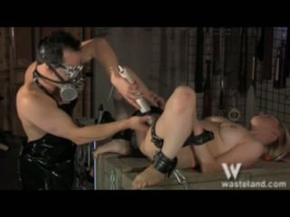 Astounding Blonde In The Masochism Dungeon Dildoed Oustanding