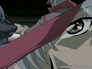 Guy Fucks Tied Hentai Girl With Monster Rod And Toy
