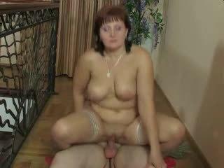 Orosz érett anya és neki fiú! amatőr!