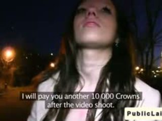 Fake Agent Fucks Amateur Girl Outdoors At Night