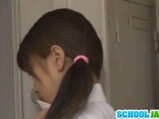 Schoolgirl In The Locker Room Double Teamed By Two Dicks