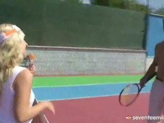 Blonde Tennis Paramour