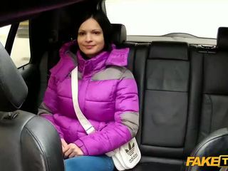 Horny gal tricked by the perv cab driver