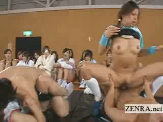 japanese athletes have group sex group as friends watch