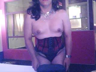 crossdresser, solo, lingerie